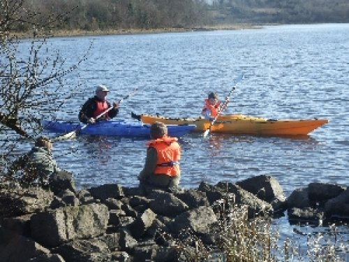 Family Fun with Safety Jackets Provided for Kayaking