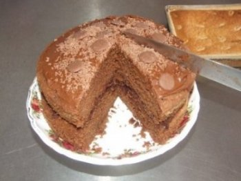 Home baking - The Perfect Chocolate Cake to Compliment a Morning Coffee