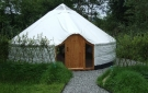 Entrance to Drift Wood Yurt - Yurts made in Ireland.