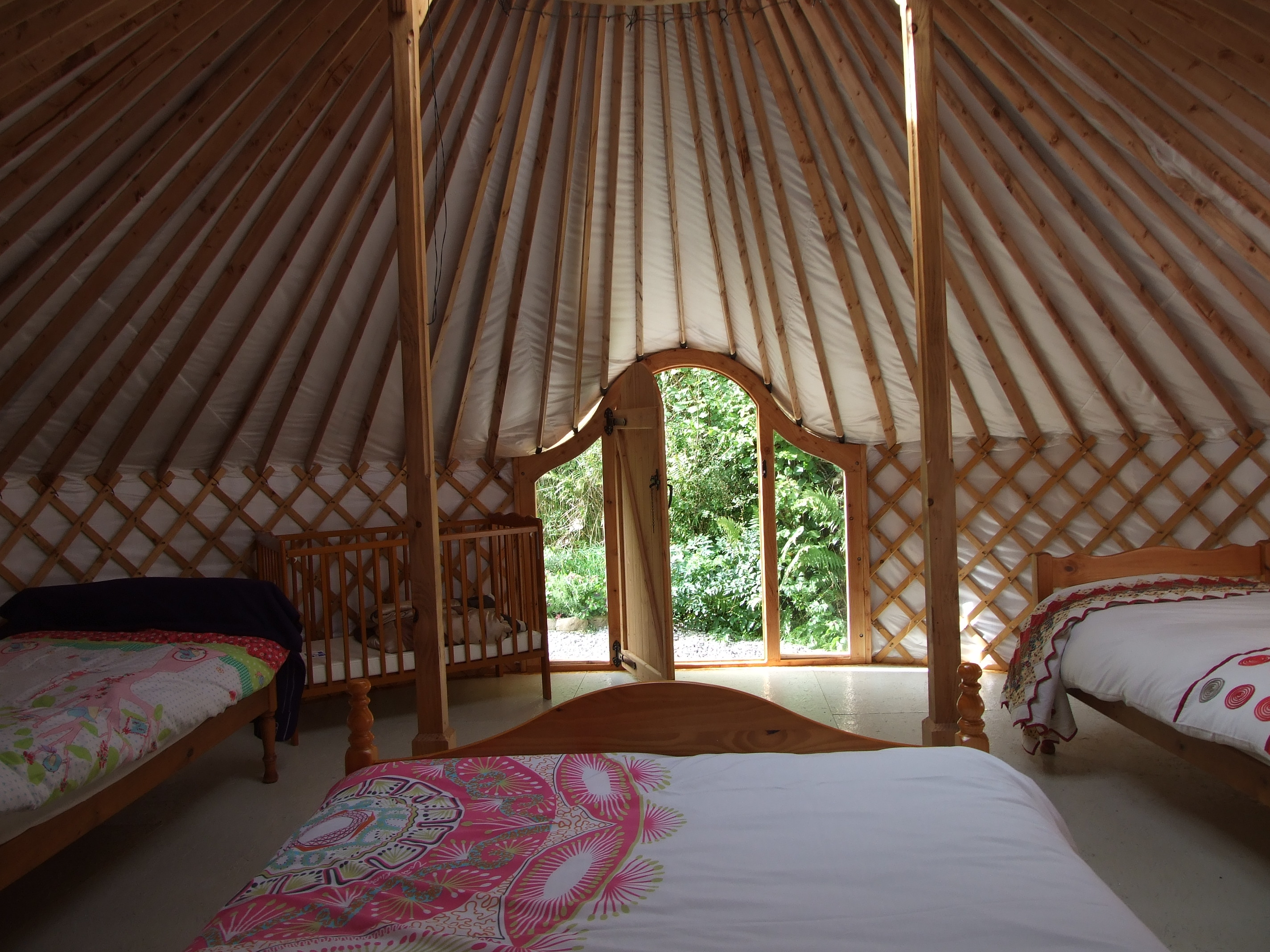 Glamping In Ireland. Sunrise Sanctuary - Yurt Interior. Made in Ireland