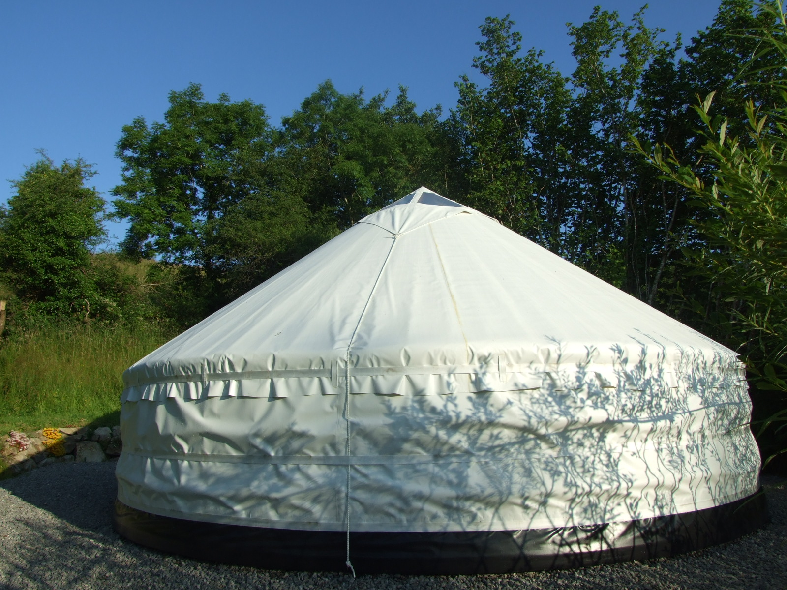 Glamping In Ireland. Sunrise Sanctuary - Yurt Exterior. Made in Ireland