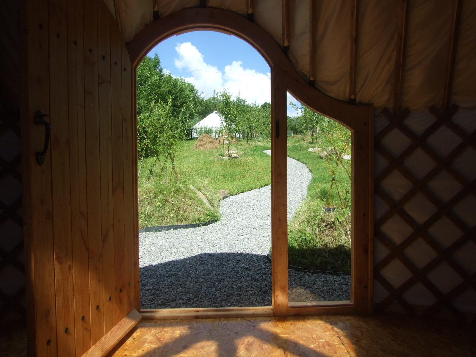 Yurts Made in Ireland. Interior - Drift Wood Yurt - irelandglamping.com
