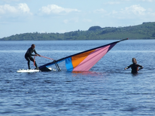 Windsurfing on Lough Allen.