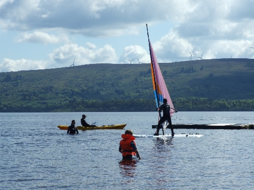 Canoeing and Kayaking On Lough Allen. Leitrim, Ireland.