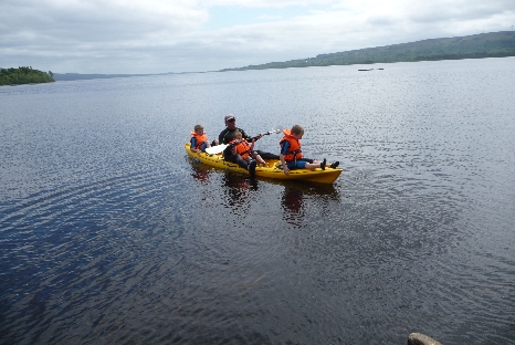 Kayaking On Lough Allen. Leitrim, Ireland.