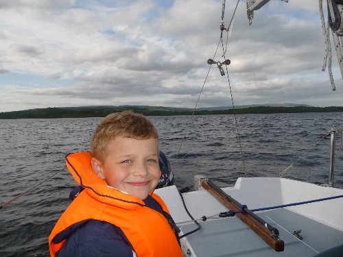 Sailing on Lough Allen