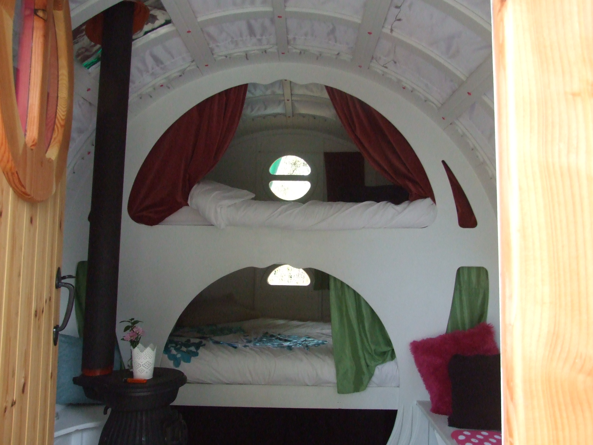 The Bow Topped Gypsy Wagon Interior. 002