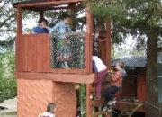 Family Friendly Glamping - Time to climb up the watch tower