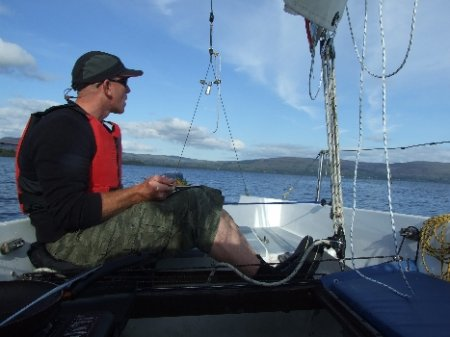 Outdoor activities in Ireland. Glamping in Ireland - Sailing on Lough Allen
