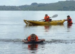 Swimming & kayaking at Corry Strand, Lough Allen, Leitrim