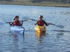 Kayaking - Pink Apple's Activities - Corry Strand, Leitrim