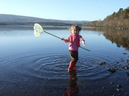 Fishing at Corry Strand - Pink Apple's Outdoor Activities- Corry Strand, Leitrim, Ireland.