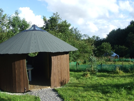 Eco Toilet and Shower Facilities. Luxury Glamp Site in Ireland