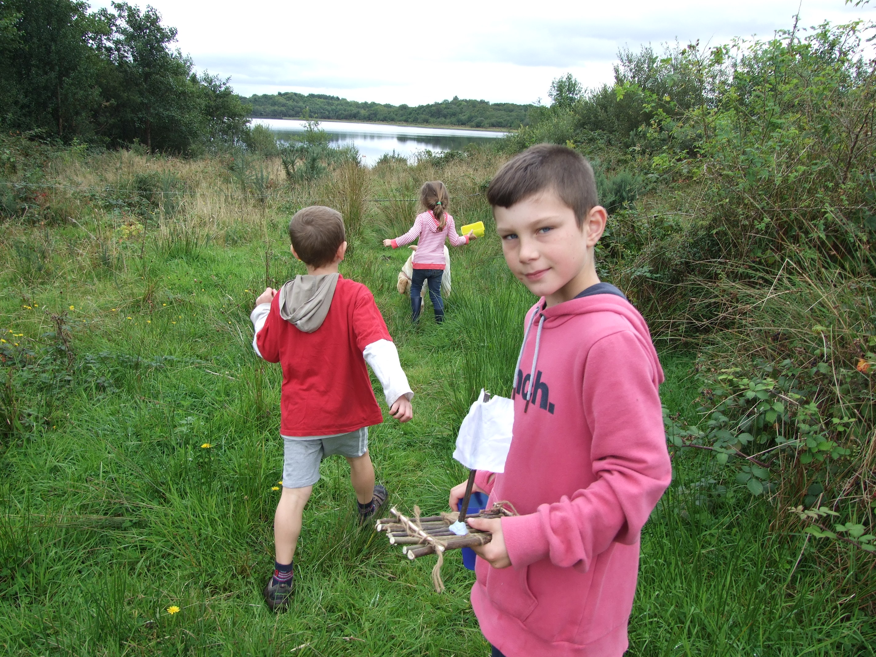 Mini raft building - kids Nature Activities in Ireland.