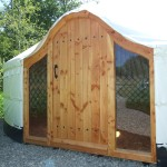 Hand crafted Yurt Doors made in Ireland