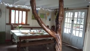 Pink Apple Orchard 2016 - The Teepee Internally. Welcome homebaking - scones.buns 032