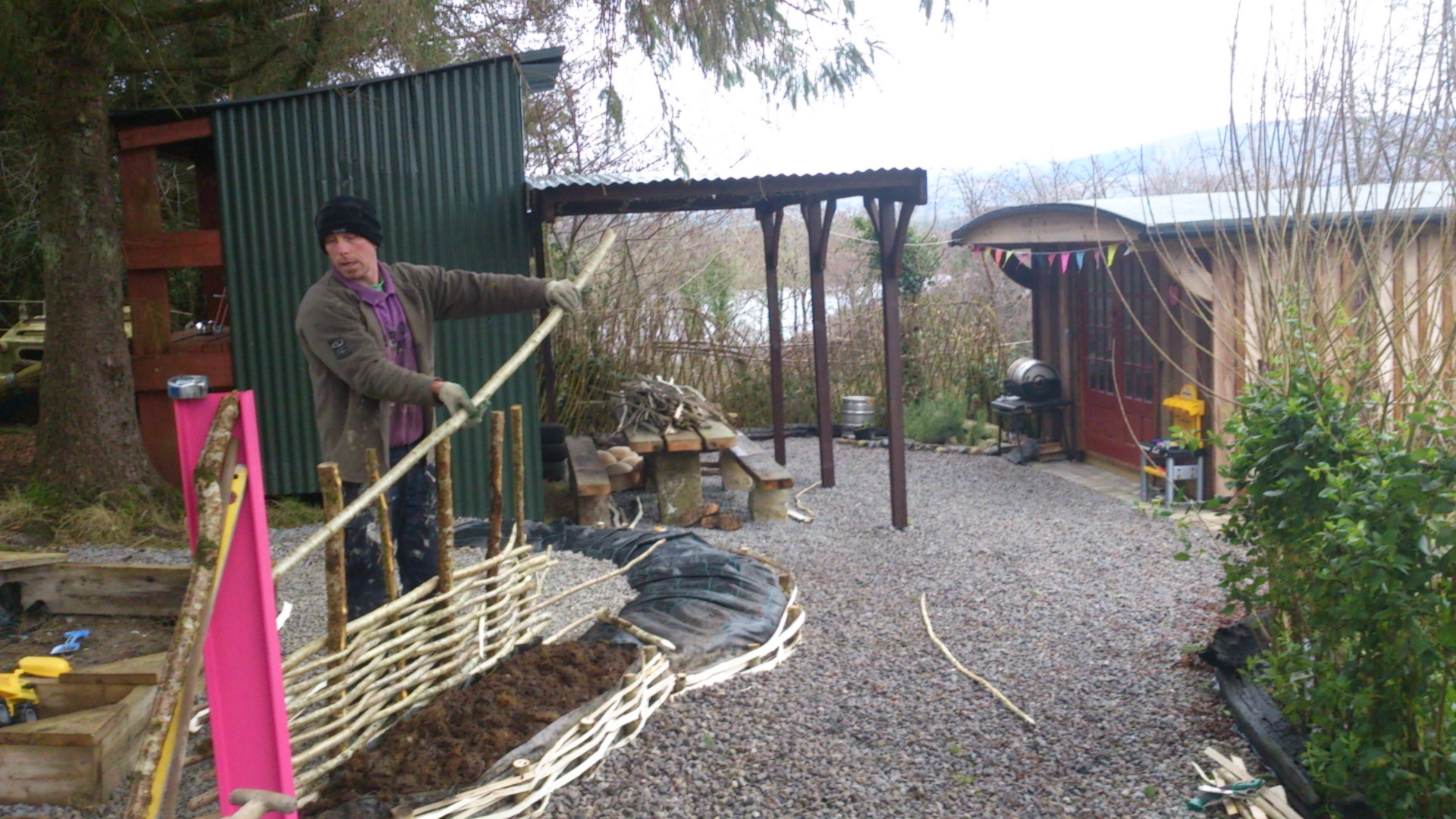 Experience luxury sustainable camping within the heart of nature leitrim eco friendly hazel hurdle fences and live willow hedges in ireland baanklon Gallery