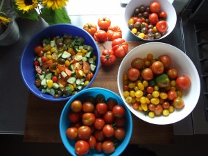 Organic Gardening in Ireland, Grow you Own Vegetables. Tomato crop