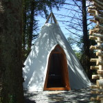 Glamping In Ireland, Hand crafted Teepee, Bow Topped Gypsy Wagon