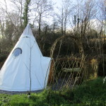 The Woodman's Teepee in Pink Apple Orchard (1)