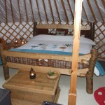 Irelandglamping. Interior of Yurts . Hand crafted Yurts