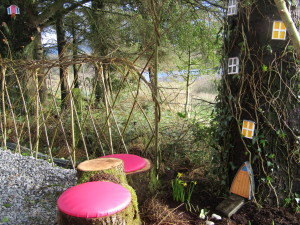 Family Glamping In Ireland, Leitrim, Fairy Doors, elf home
