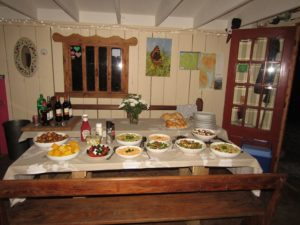 Hen Party BBq Food ad salads at Pink Apple Glamping