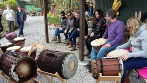 Pink Apple Orchard. African Drumming Activity. Camp Fire Fun. Hen Parties . Glamping